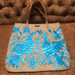 KATE SPADE WICKER STRAW HAND BAG / PURSE